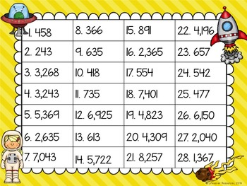 Place Value  to Thousands Game