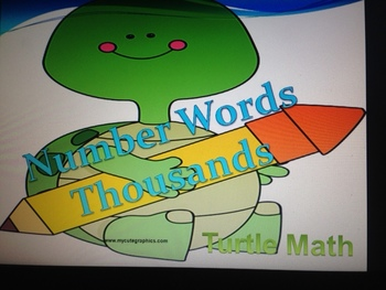 Place Value to the Thousands - TurtleMath