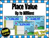 Place Value up to Millions Boom Cards - Distance Learning