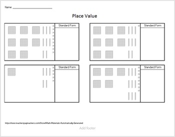 Place Value w/ Base Ten Blocks - Automatically Generated