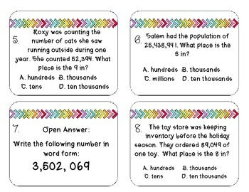 Place Value (whole and decimal) Task Cards - VA Standards