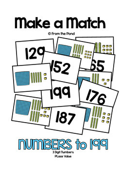 Place Value with 3 Digit Numbers {Math Center / Game}