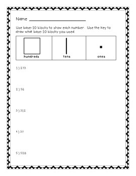 Place Value with Base-10 Blocks