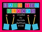 Place Value with Base Ten Blocks - Ones, Tens, and Hundreds