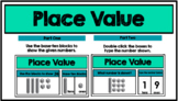 Place Value with Blocks- Tens & Ones GOOGLE CLASSROOM ACTIVITY!