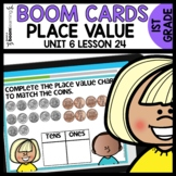 Place Value with Coins BOOM CARDS | DIGITAL TASK CARDS | Module 6 Lesson 24