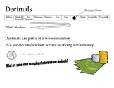 Place Value with Decimals Introduction