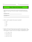 Place Value with Decimals Review Pack