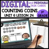 Place Value with Dimes and Pennies | DIGITAL TASK CARDS |