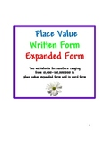 Place Value with Expanded Form, Written Form