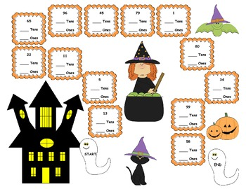 Place Value with Haunted Numbers