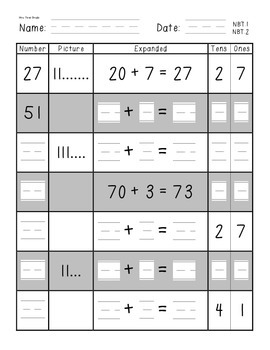 Place Value with Expanded Notation, 100s, 10s, and 1s for CC NBT.1, NBT.2