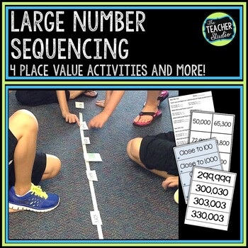 Place Value with Large Numbers Activities--CCSS