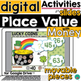 Place Value with Money St Patrick's Theme for Google Slide