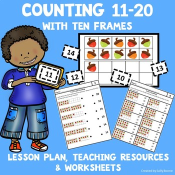 Counting 11-20 with Ten Frame Cards - Lesson Plan, Resources & Worksheets