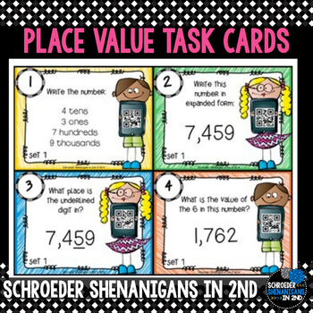 Place Value with and without QR codes