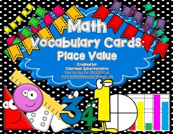 Vocabulary Cards-Place Value, Addition/Subtraction, Expanded Form & more!