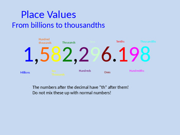 Place Values Practice