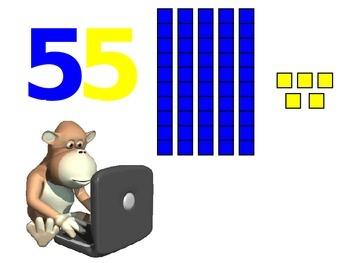 Place Values: Tens & Ones with Monkey theme