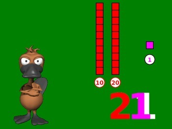 Place Values: Tens & Ones with Platypus theme