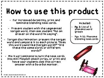 Place an Eraser 3 Phoneme Blending