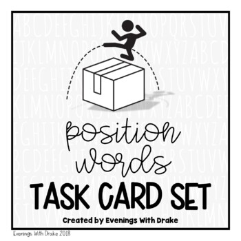 Positional Words Task Card Set