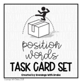 Place and Location Positional Words Task Card Set