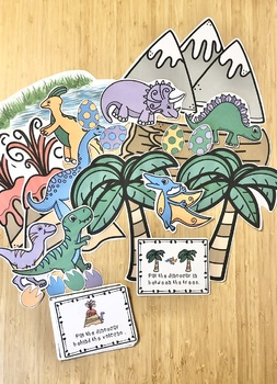 Place it! Dino Positional Word Game