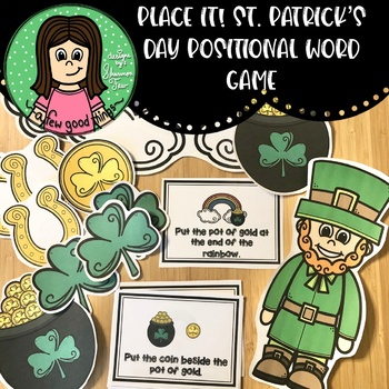 Place it! Shamrock Positional Word Game