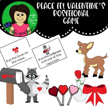 Place it! Valentine Positional Word Game
