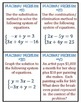 Place mat Problems System of Equations