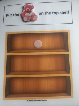 Place the Objects on the Shelf - Interactive Book