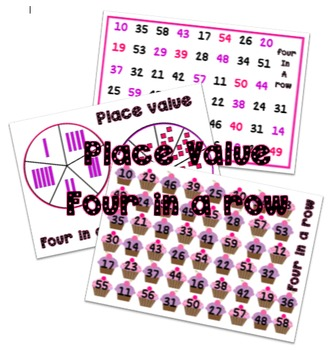 Place value 4 in a row game