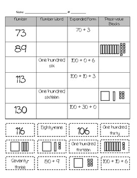 place value number sort by mz h teachers pay teachers. Black Bedroom Furniture Sets. Home Design Ideas