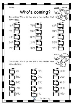 Place value - Numbers to 1000 (Movie Theme)