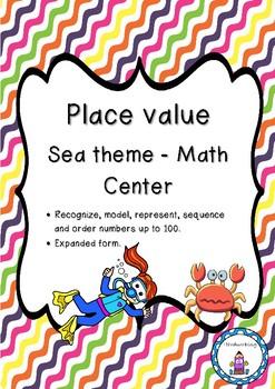Place value Sea theme - Math Center