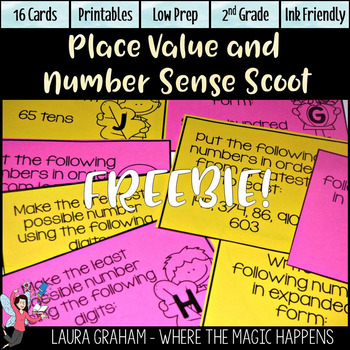 Place Value and Number Sense Scoot November BUILD FREE Sample
