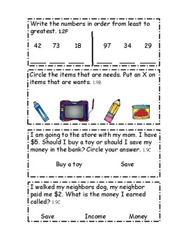 Place value and financial literacy