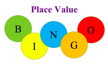 Place value bingo - digits 0 - 10 000