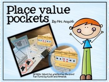 Place value desk top pockets
