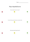 Place value lesson reflection worksheet