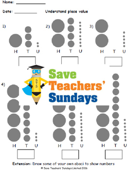 Place value (on an abacus) lesson plans, worksheets and more