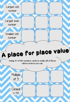 Place value puzzles - Maths practice addition and number sense