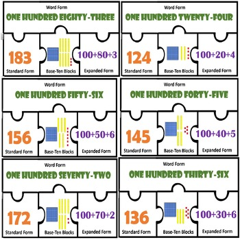 Place value puzzles Expressing Numbers Standard expanded word written form