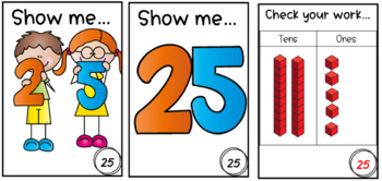 Place value self-checking cards!