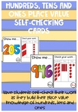 Place value self-checking cards - hundreds, tens and ones!