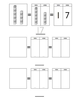 Place value (tens and ones) worksheet