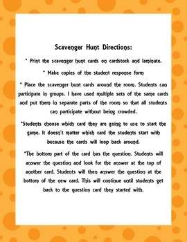 Place value through the hundred millions scavenger hunt
