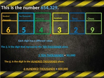 Place value to hundred thousands