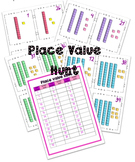 Place value treasure hunt game
